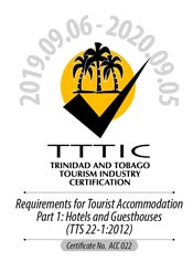 Trinidad & Tobago Tourism Industry Certified