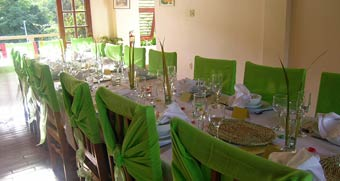 Wedding dining at the Cuffie River Nature Retreat, Tobago